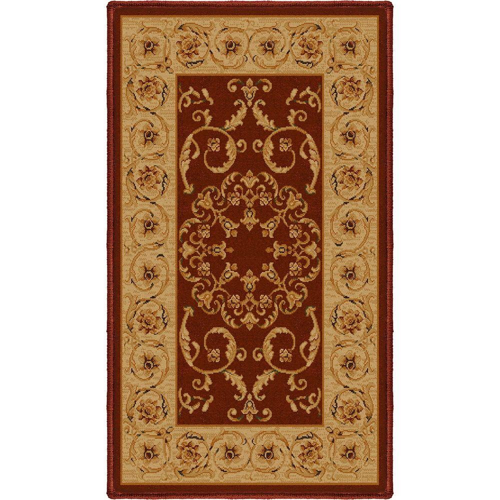 Orian Rugs Rochester Spanish Red 1 ft. 7 in. x 2 ft. 9 in. Accent Rug