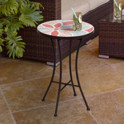 Sol Mosaic Metal Outdoor Side Table