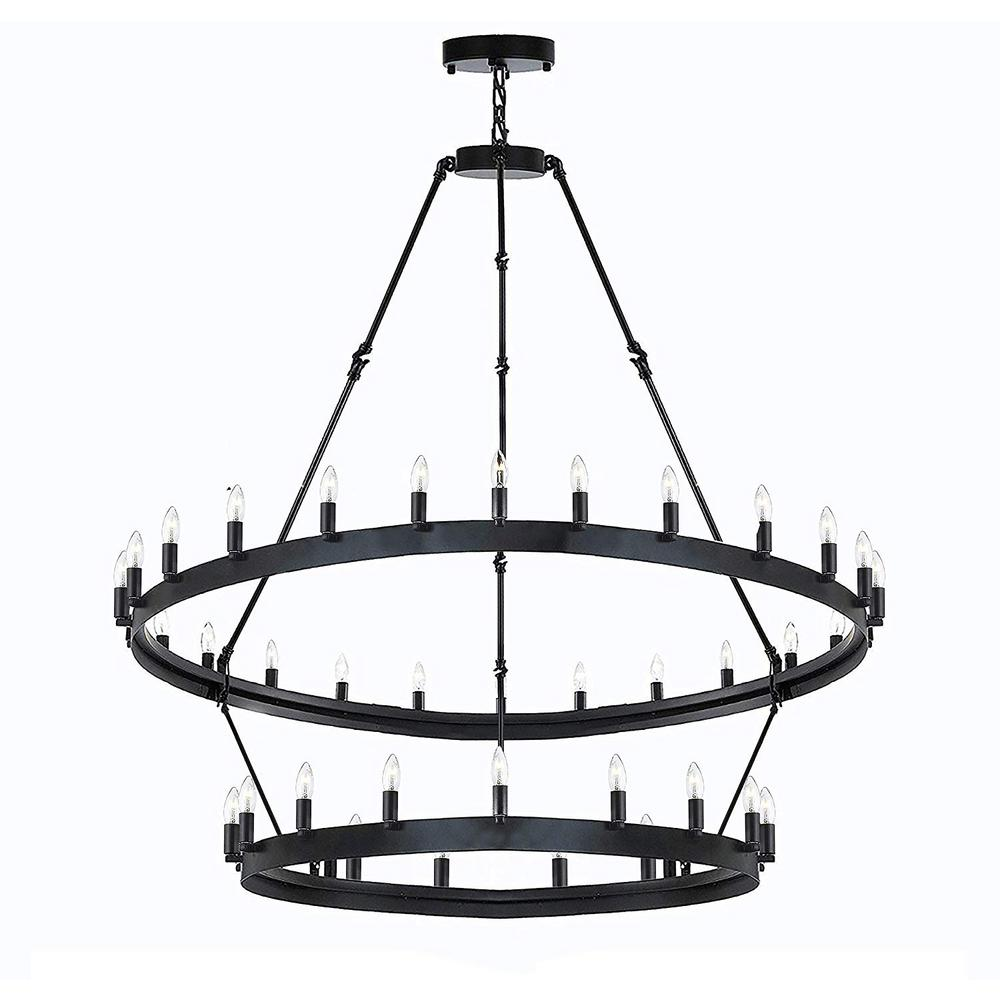 Harrison Lane Height 50 In X Width 38 30 Light Vintage Barn Metal Castile Rustic Dark Brown Chandelier