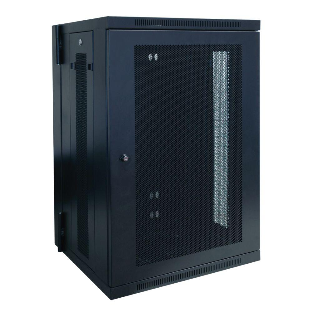 18U Wall Mount Rack Enclosure Cabinet Hinged Wallmount  sc 1 st  The Home Depot : home computer cabinets - Cheerinfomania.Com