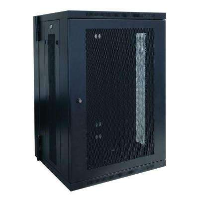 18U Wall Mount Rack Enclosure Cabinet Hinged Wallmount