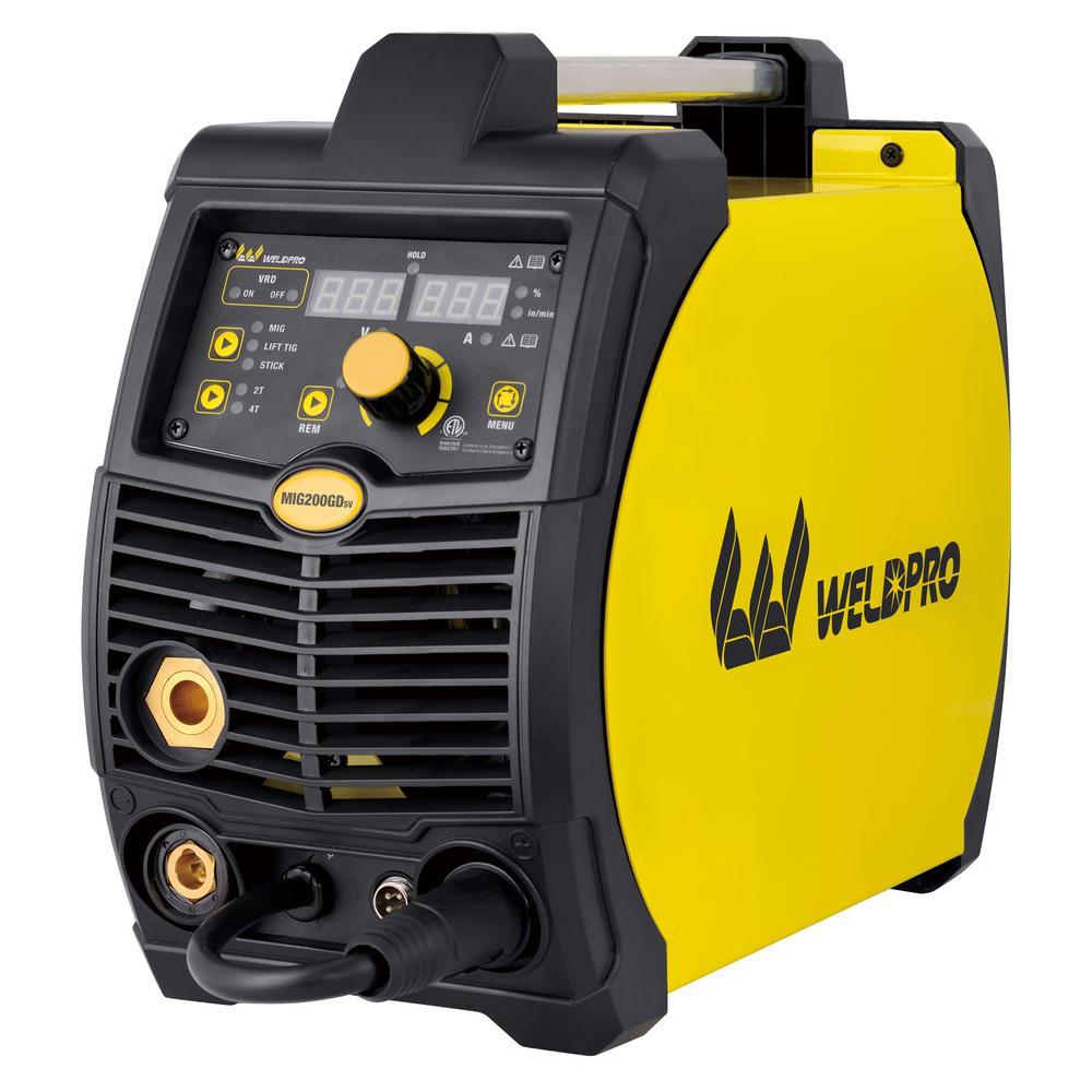 W Weldpro 200 Amp Inverter Multi-Process Welder with Dual Voltage