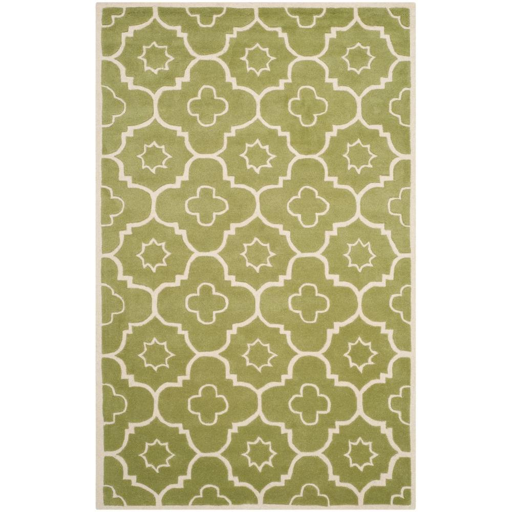 Chatham Green/Ivory 6 ft. x 9 ft. Area Rug
