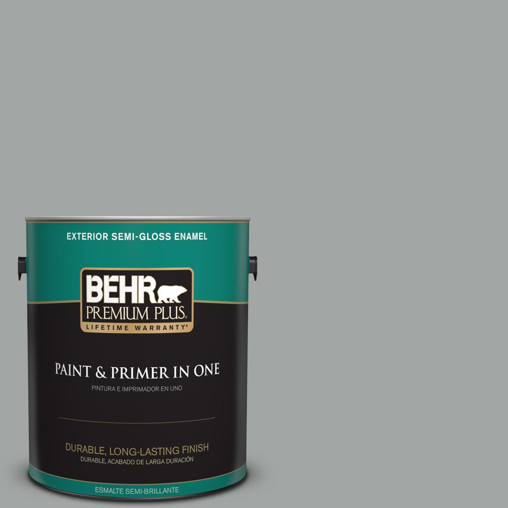 1 gal. #PPU25-16 Chain Reaction Semi-Gloss Enamel Exterior Paint