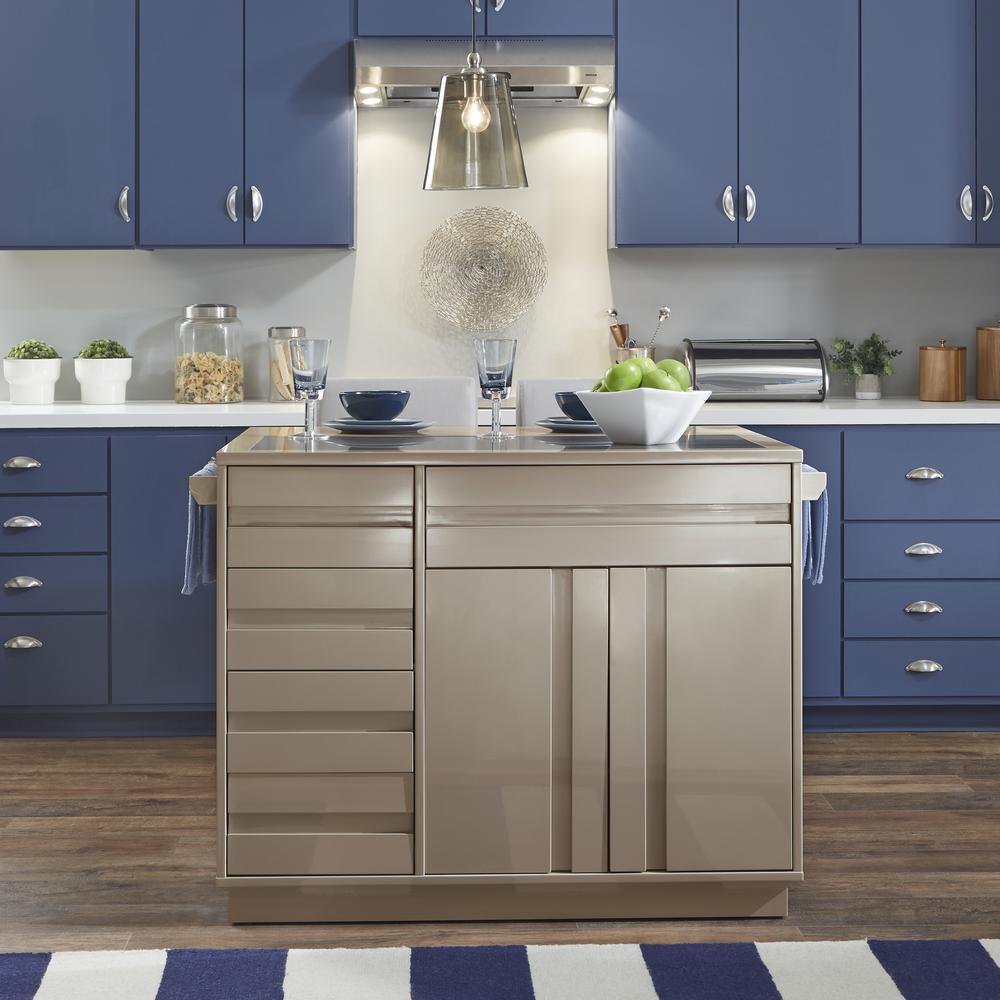 Strange Homestyles Linear Ii Gray Kitchen Island With 2 Stools 8001 Spiritservingveterans Wood Chair Design Ideas Spiritservingveteransorg