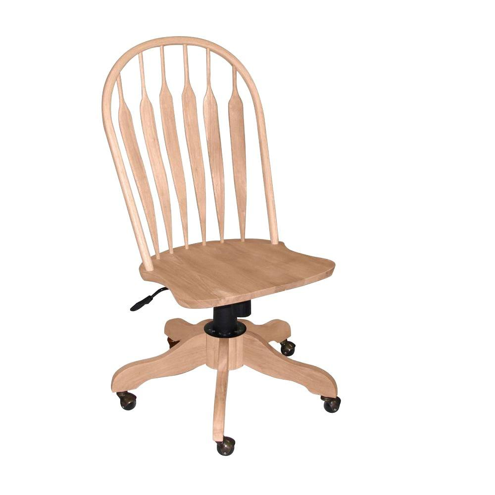 International Concepts Unfinished Steam Bent Windsor Office Chair
