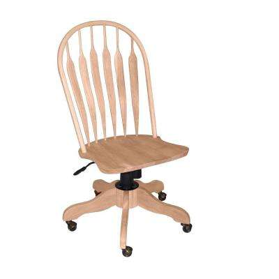 Unfinished Steam Bent Windsor Office Chair