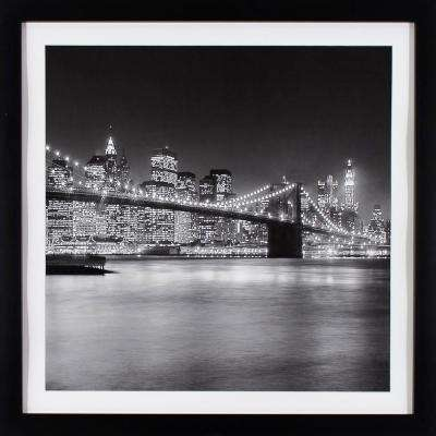 29 in. x 29 in. NYC Light Printed Framed Wall Art