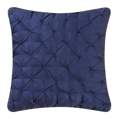Diamond Tuck Navy Blue Standard Pillow