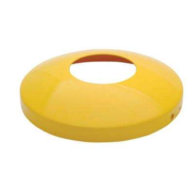 4.5 in. Round Yellow Steel Protective Dome for Bollards
