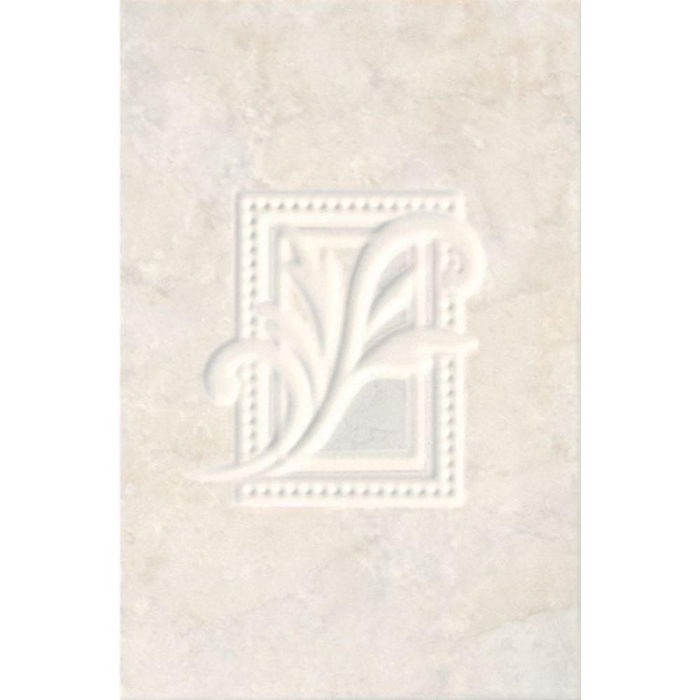 Illusione Ice 8 in. x 7/25 in. Ceramic Insert Wall Tile