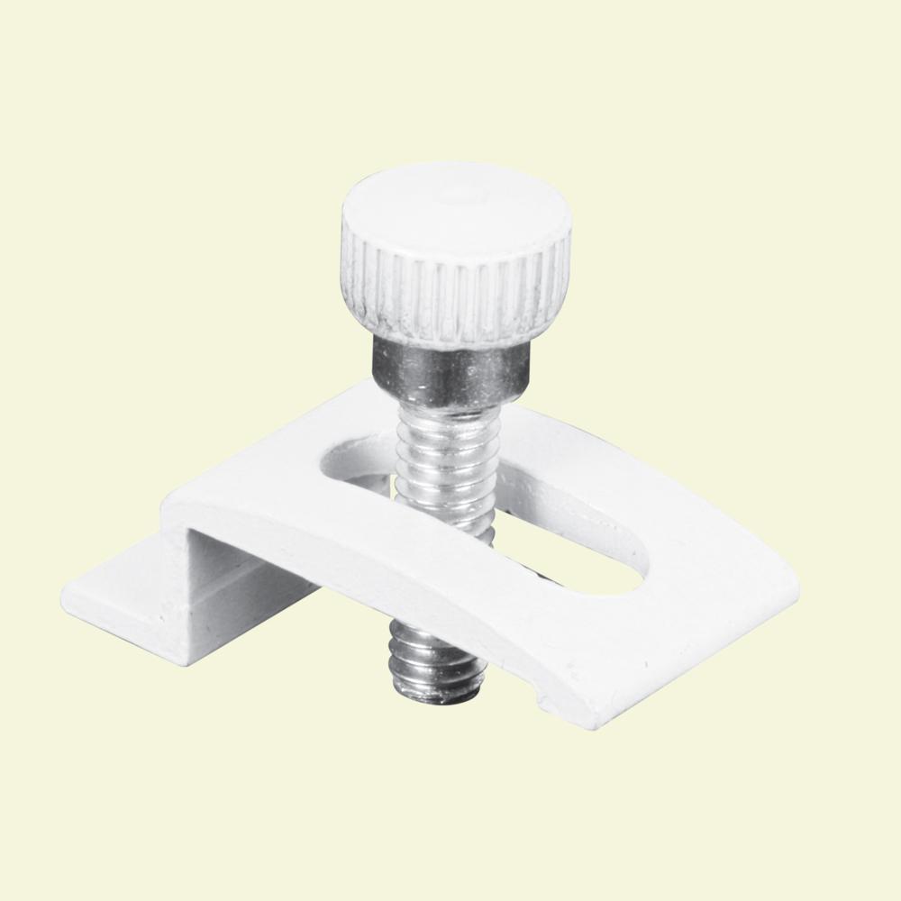 1/4 in. White Aluminum Storm Door Clips