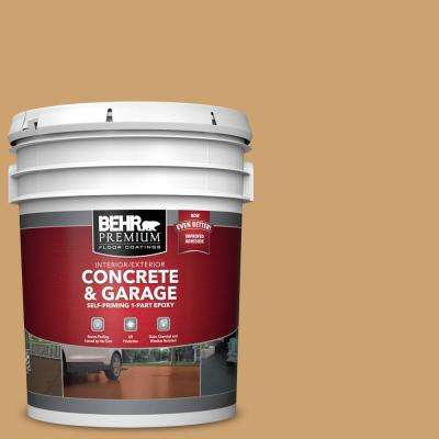 5 gal. #PFC-29 Gold Torch 1-Part Epoxy Satin Interior/Exterior Concrete and Garage Floor Paint