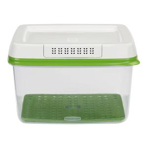 Rubbermaid Fresh Works Produce Saver 2 Piece Green Storage Container