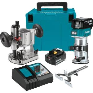 Deals on Makita 5.0 Ah 18-Volt LXT Lithium-Ion Brushless Router Kit XTR01T7