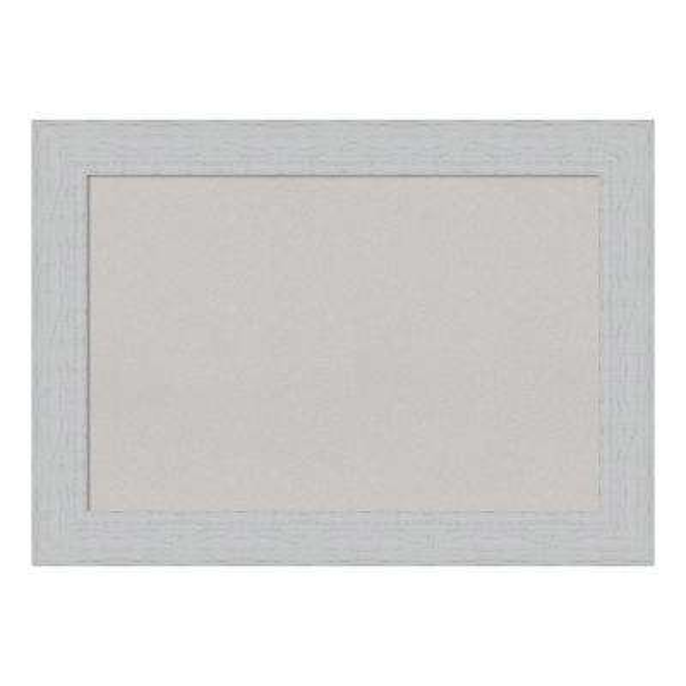 Shiplap White Framed Grey Cork Memo Board
