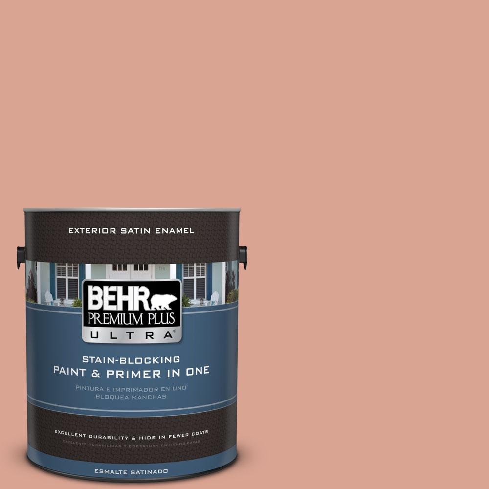 BEHR Premium Plus Ultra Home Decorators Collection 1-gal. #HDC-CT-13 Apricotta Satin Enamel Exterior Paint