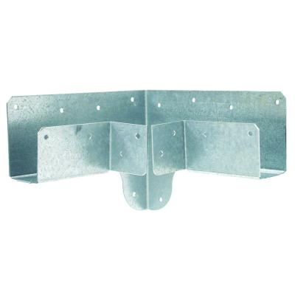 RTC 18-Gauge Galvanized Rigid Tie Corner for 2x Nominal Joist, 4x4 Nominal Post