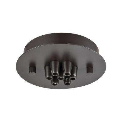 Illuminaire Accessories 7-Light Oil Rubbed Bronze Small Round Canopy