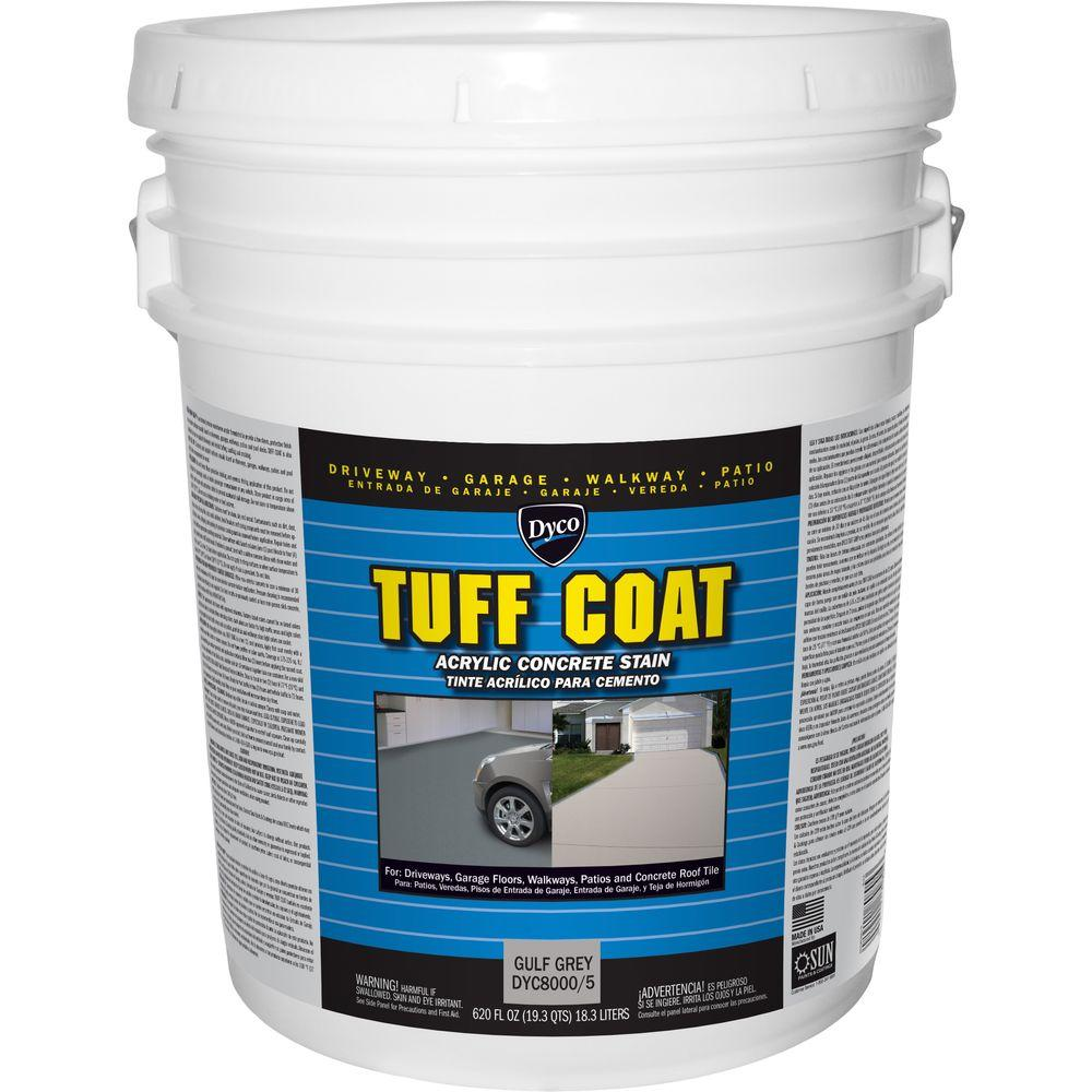 Dyco Tuff Coat 5 gal. 8000 Gulf Grey Low Sheen Exterior Waterborne Acrylic Concrete Stain
