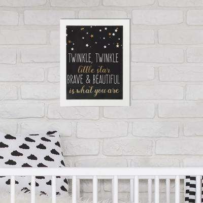 8 in. x 10 in. Brave and Beautiful 1-Piece Framed Artwork with Metallic Screenprint