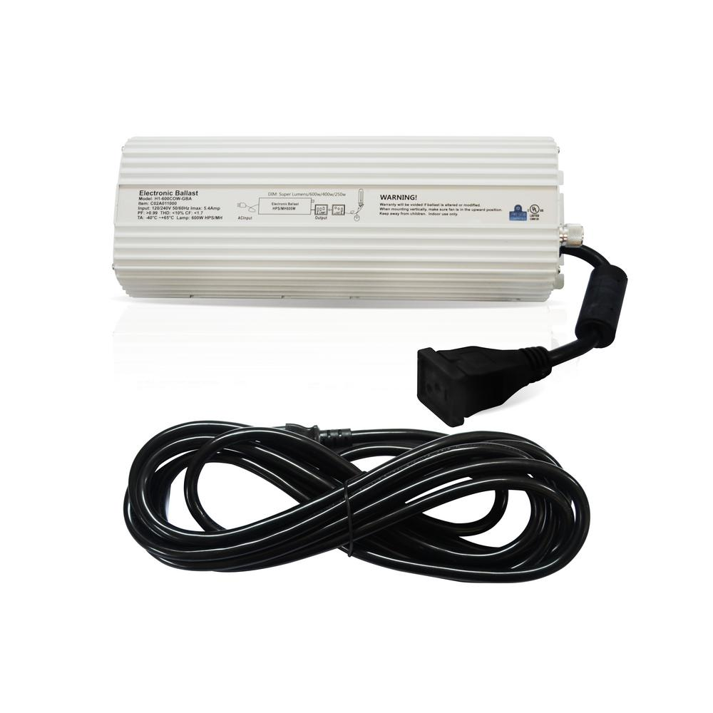 600-Watt Digital Dimmable Ballast 120/240-Volt for Grow Lights