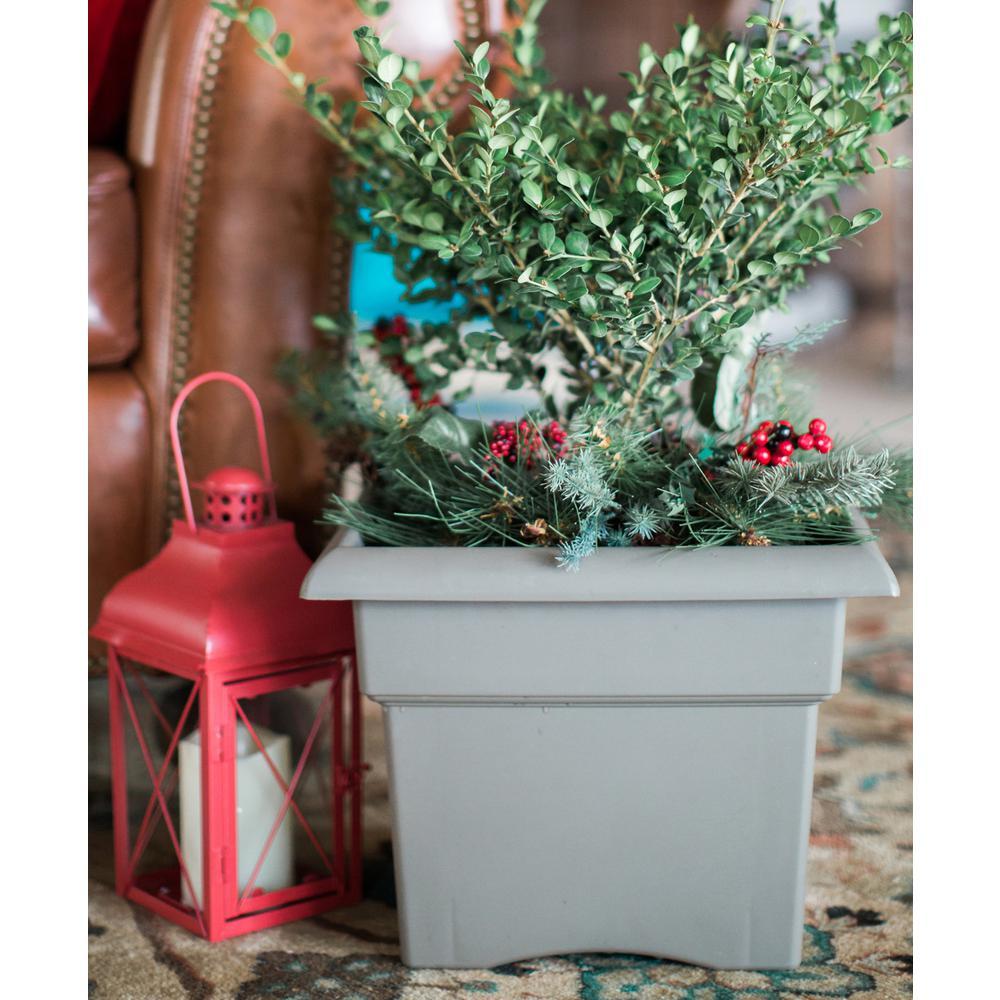 14 x 11.25 Peppercorn Veranda Plastic Square Deck Box Planter