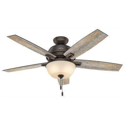 Donegan 52 in. LED Indoor Onyx Bengal Bronze Ceiling Fan