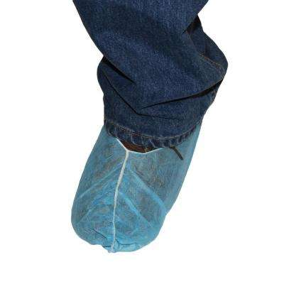 Non-Skid Large Blue Polypropylene Shoe Cover (150 Pair per Pack)