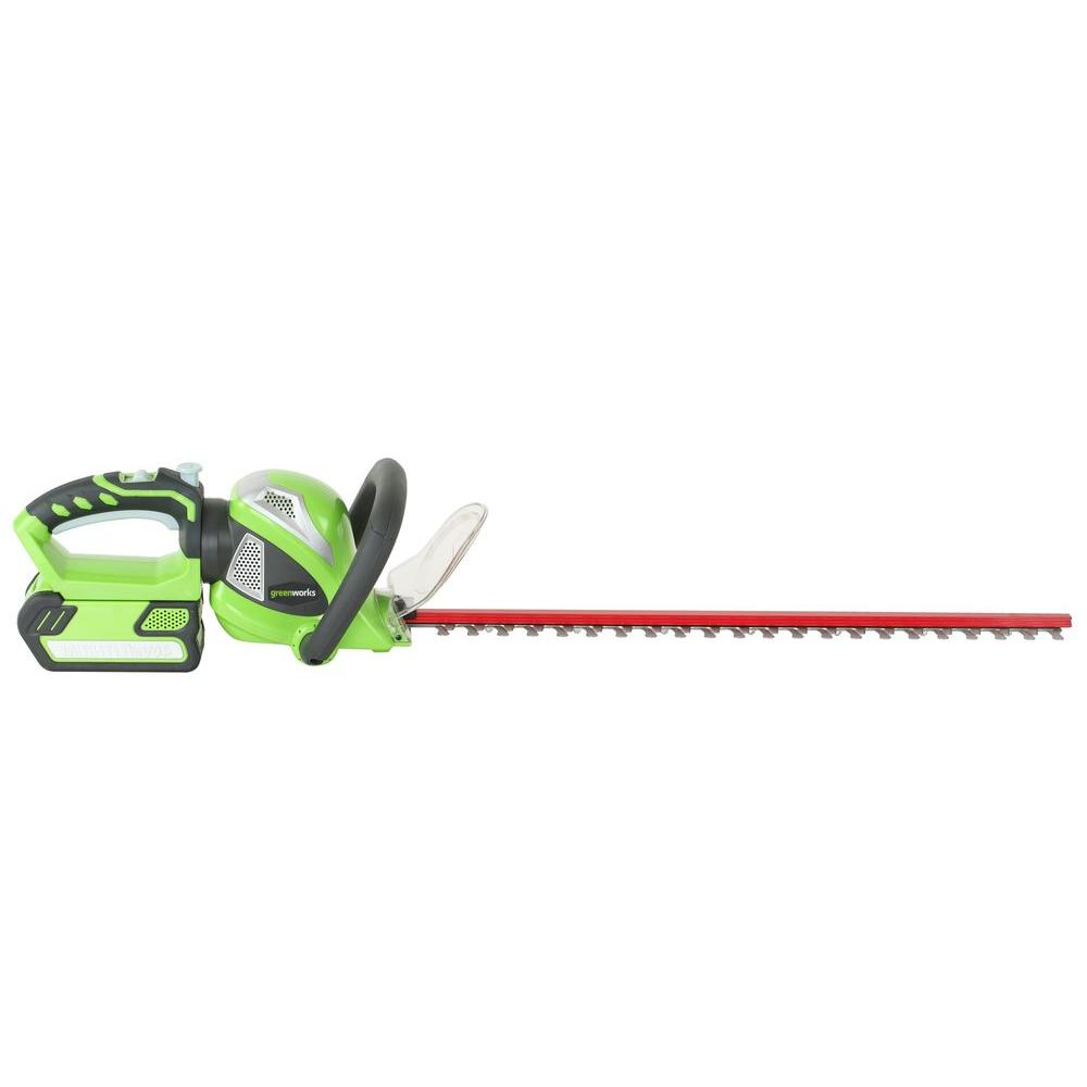 Green Works 22 in. 40-Volt Electric Cordless Hedge Trimmer-DISCONTINUED