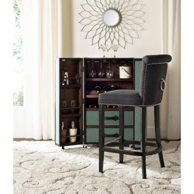 Addo 29.7 in. Charcoal Cushioned Bar Stool