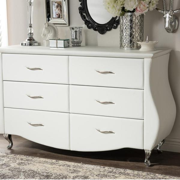 Baxton Studio Erin 6-Drawer White Dresser 28862-6439-HD
