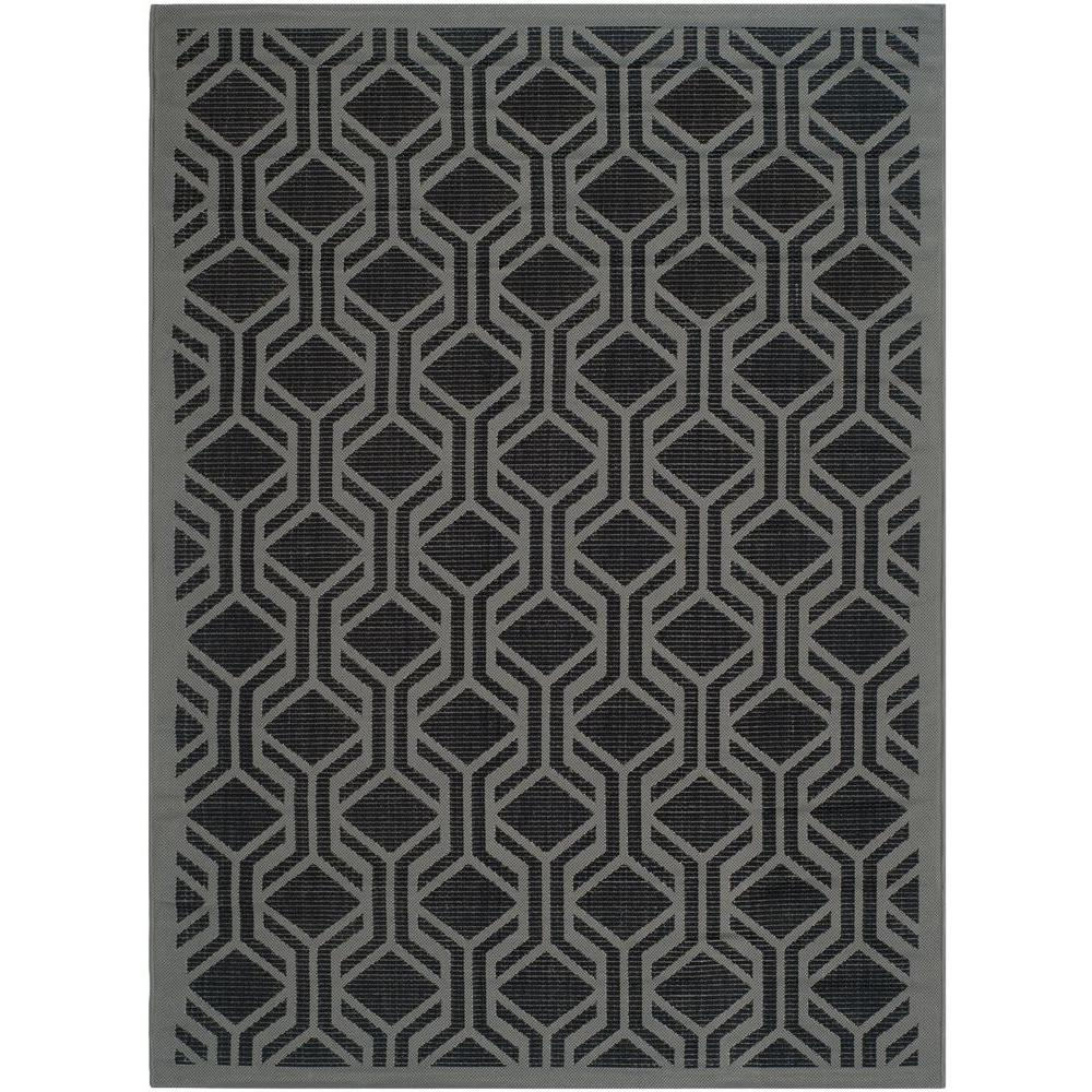 Courtyard Black/Anthracite 6 ft. 7 in. x 9 ft. 6 in.