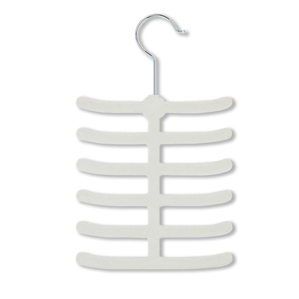 12-Hook White Tie Hanger Rack (20-Pack)
