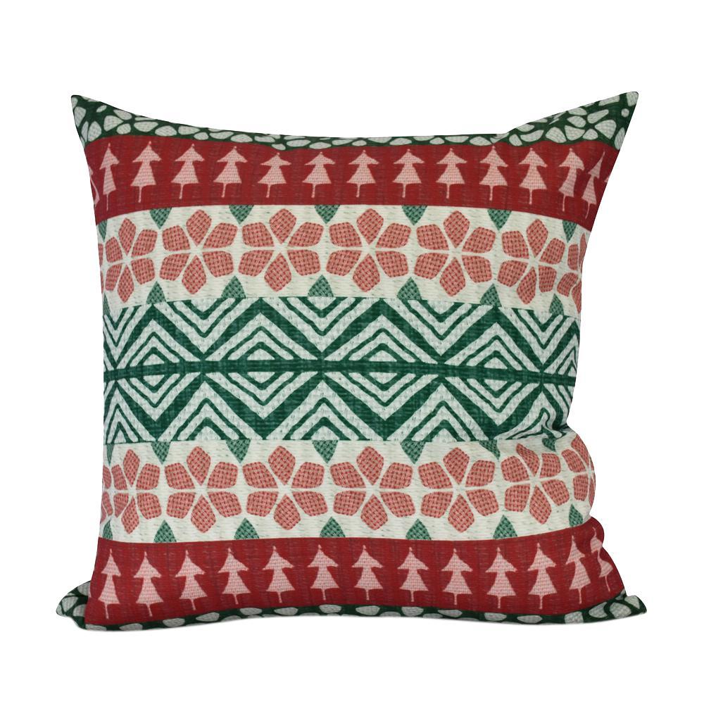26 inch FairIsle Geometric Print Decorative Pillow by