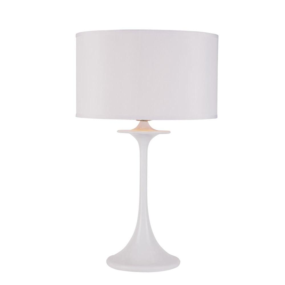 Bel Air Lighting Stewart 26.5 in. White Incandescent Table Lamp-DISCONTINUED