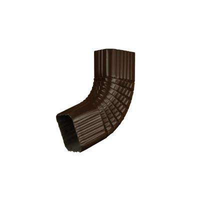 3 in. x 4 in. Musket Brown A Aluminum Downspout B Elbow
