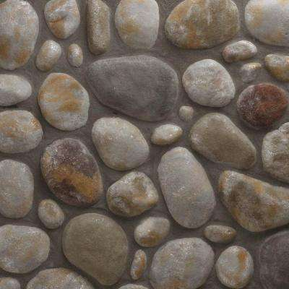 River Rock Mendocino Flats 150 sq. ft. Bulk Pallet Manufactured Stone