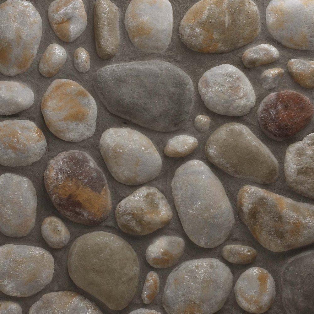 Veneerstone River Rock Mendocino Flats 150 sq. ft. Bulk Pallet Manufactured Stone