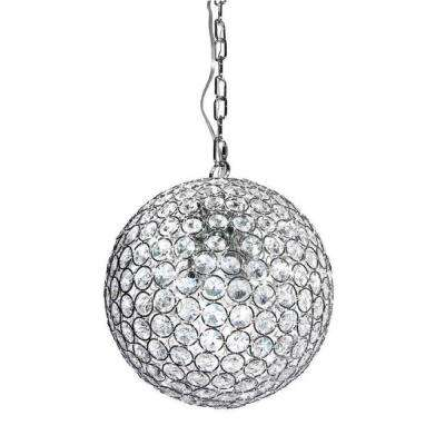 1-Light Crystal Chrome Mini-Pendant