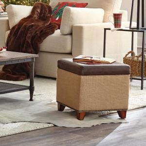 Pleasant Home Decorators Collection Ethan Brown Storage Ottoman Gmtry Best Dining Table And Chair Ideas Images Gmtryco
