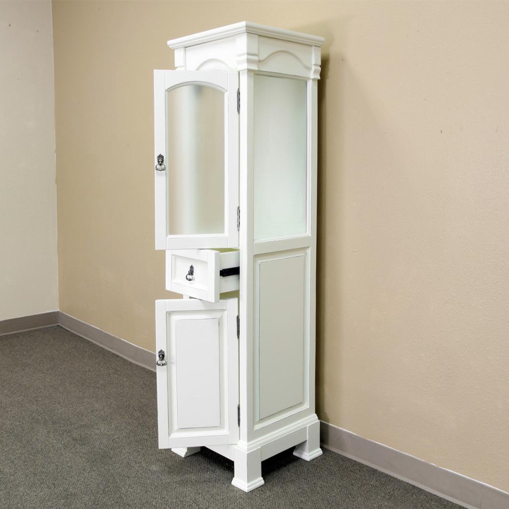 Bloomfield 18 in. W x 65 in. H x 17 in. D Bathroom Linen Storage Cabinet in Cream White