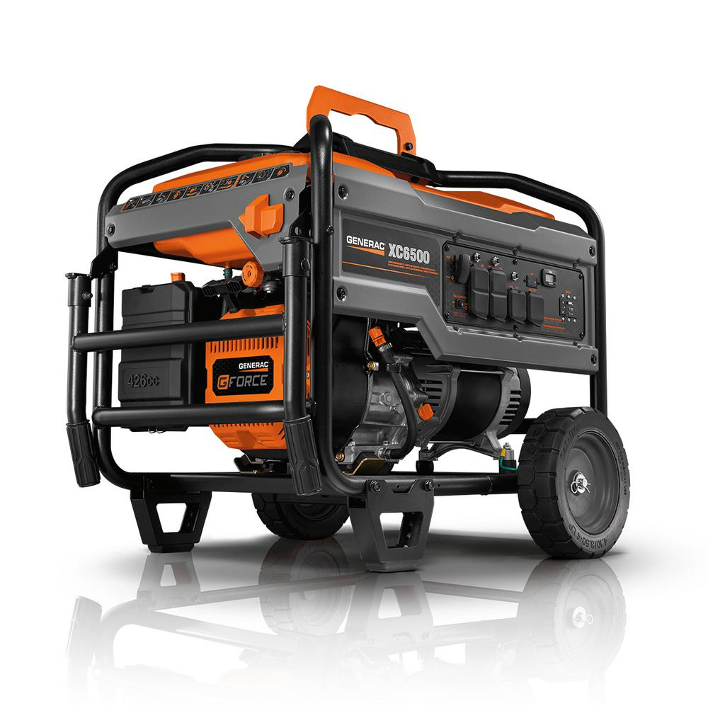 Generac XC 6500-Watt Gasoline Powered Portable Generator, 49/CSA