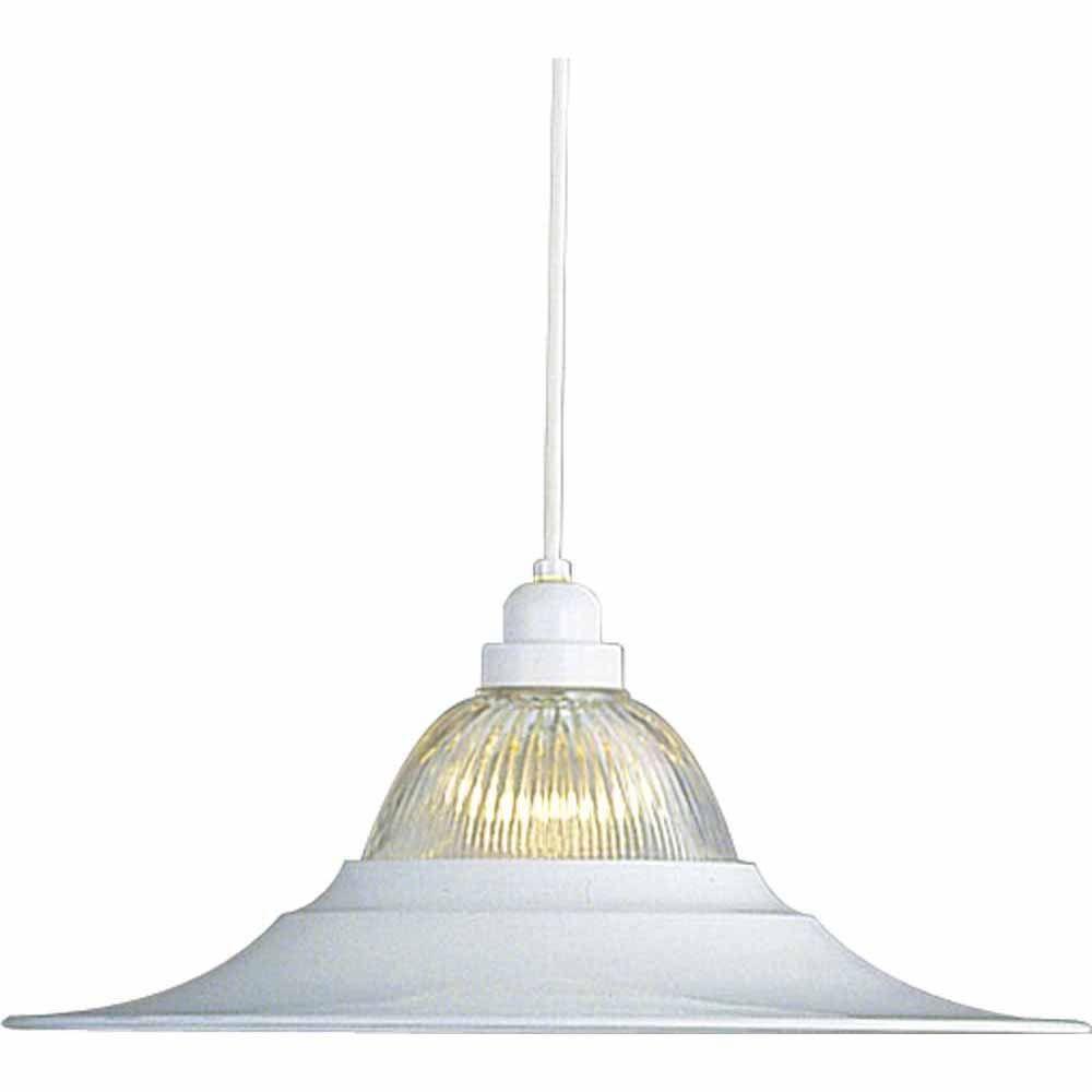 Lenor 1-Light White Incandescent Pendant