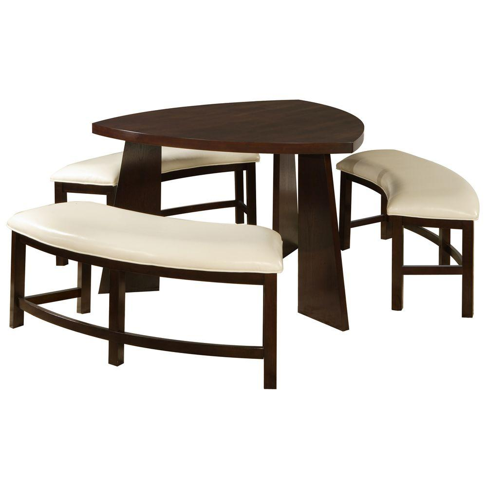 Nassau 4-Piece Cherry Dining Set-405315[4PC] - The Home Depot