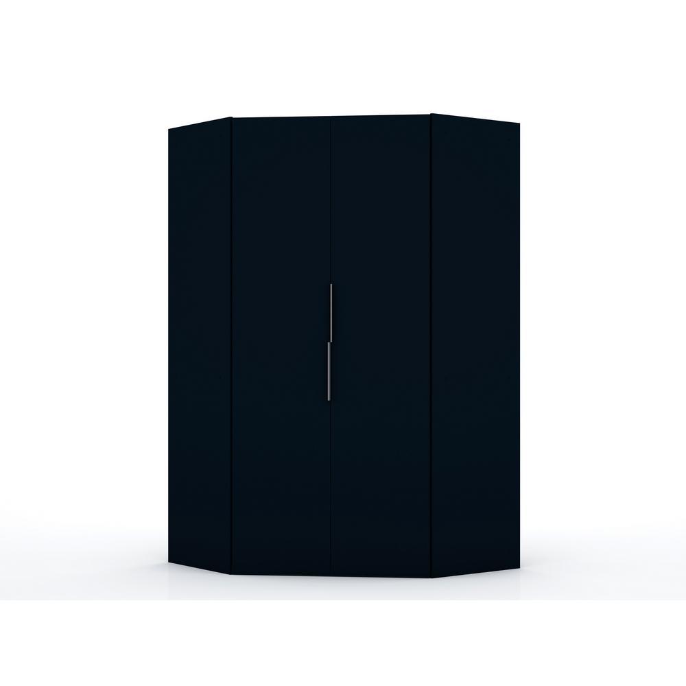 Luxor Ramsey 2.0 Tatiana Midnight Blue Corner Wardrobe Closet 115HD3