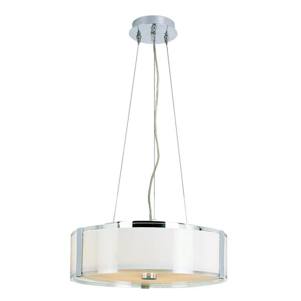 5-Light Ceiling Polished Chrome Incandescent Pendant