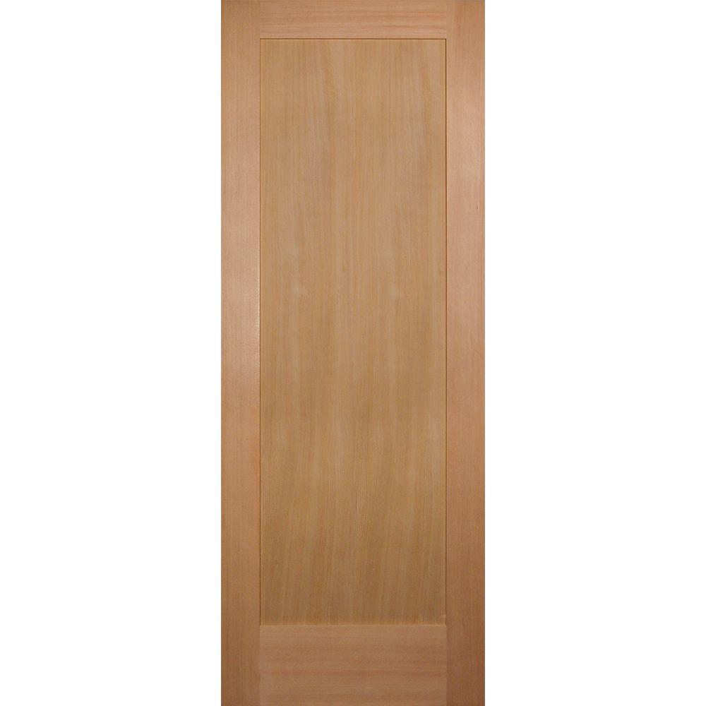 Builders Choice 30 In X 80 In 1 Panel Shaker Solid Core Hemlock Single Prehung Interior Door