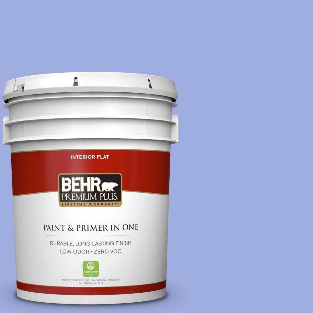 BEHR Premium Plus 5-gal. #P540-4 Lavender Sky Flat Interior Paint