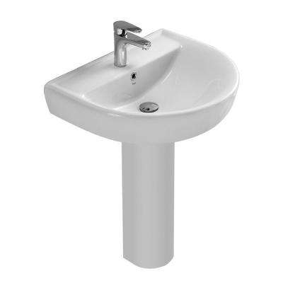 Bella Pedestal Sink in White